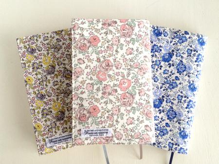 花柄バラ柄リバティかわいいブックカバー新書サイズフェリシテ